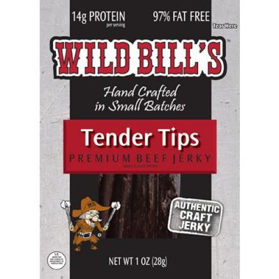 Wild Bill's Hickory Smoked Beef Jerky Packs - 1oz Tips (12-ct)