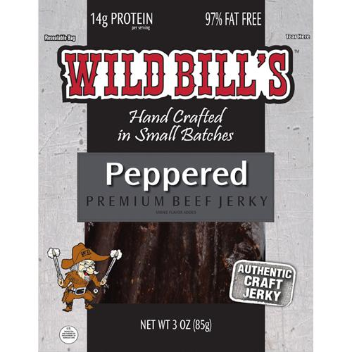 Wild Bill's Black Peppered Beef Jerky Packs - 3oz