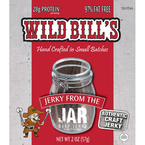 Wild Bill's Hickory Smoked Beef Jerky From The Jar Packs - 2oz