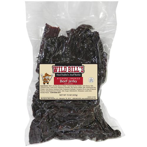 Wild Bill's Hickory Smoked Beef Jerky Packs - 15oz Tips