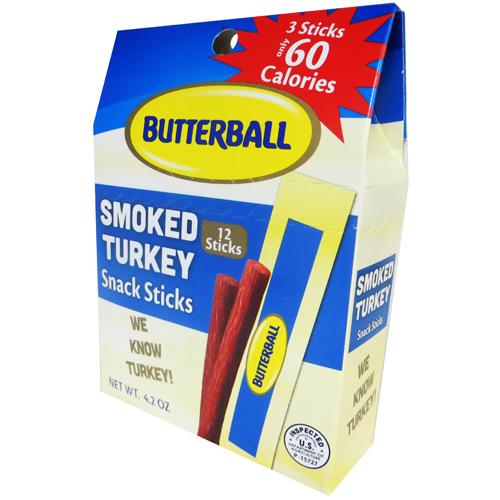 Butterball Smoked Turkey Snack Sticks - 4.2oz (12-ct)