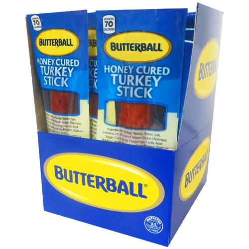 Butterball Honey Cured Turkey Sticks - 1oz (20-ct)