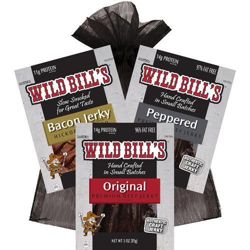Wild Bill's 3-Piece Beef Jerky Samplers