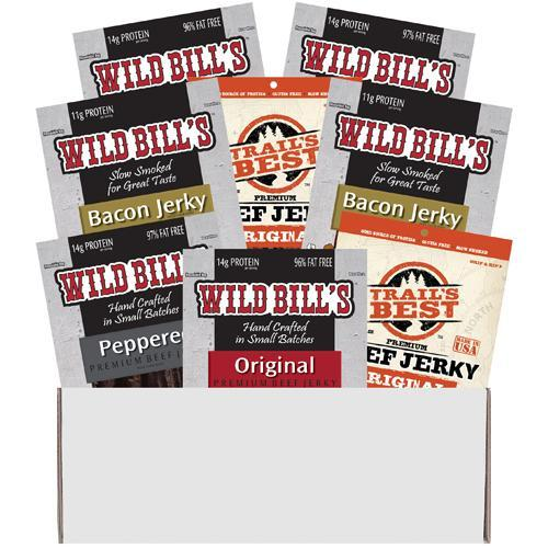Multi-Brand 8-Piece Jerky Sampler Boxes
