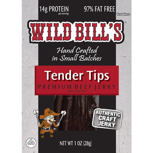 Wild Bill's Hickory Smoked Beef Jerky Packs - 1oz Tips
